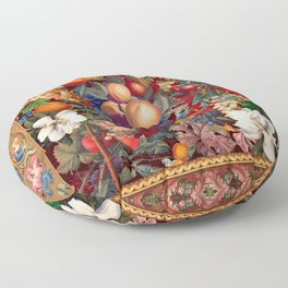 Vintage Fruit Pattern VII Floor Pillow