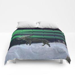 Northern Lights Moose Hunt Comforters