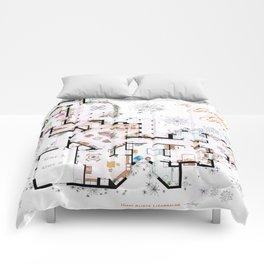 The Golden Girls House floorplan v.2 Comforters