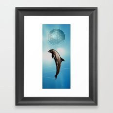 The DOLPHIN - ZEN version Framed Art Print