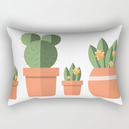 Potted Plant Family Rectangular Pillow