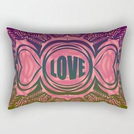 heart center pink Rectangular Pillow