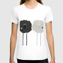 Ying Yang Sheep T-shirt