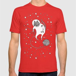 Space Cat Proves String Theory Exists T-shirt