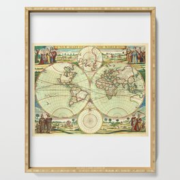 A new mapp of the world (1702) Serving Tray