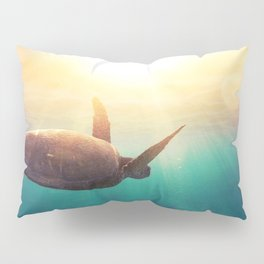 Sea Turtle - Underwater Nature Photography Pillow Sham