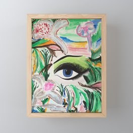 I'm Here. Original Painting by Jodilynpaintings. Abstract Artwork. Framed Mini Art Print
