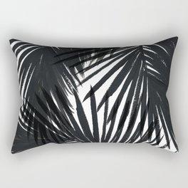 Palms Black Rectangular Pillow