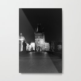 on the way black and white Metal Print