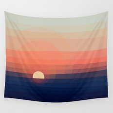 Colors Sunset Wall Tapestry
