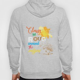 Classy but rough around the edhe hedgehog paint colour artist Hoody