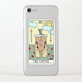 COFFEE READING Clear iPhone Case