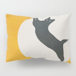 Moon and Cat Pillow Sham