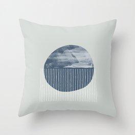 Sea Salt Rain Throw Pillow