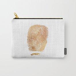 Gold Fingerprint Carry-All Pouch