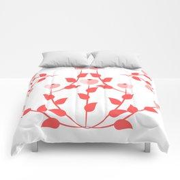 Pink floral fantasy Comforters