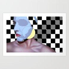 Masked Beauty  Art Print