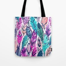 WILD FEATHERS Boho Watercolor Tote Bag