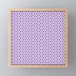 Purple Delicate Flowers Framed Mini Art Print