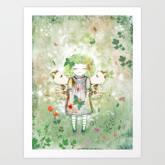 Lady Butterfly of the hope Art Print