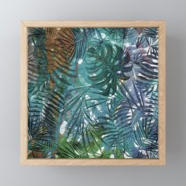 Aloha - Tropical Palm Leaves and Monstera Leaf Garden Framed Mini Art Print