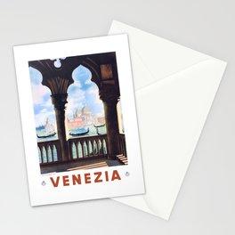 1938 ITALY Venice Venezia Travel Poster Stationery Cards