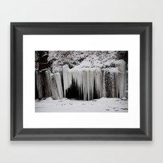 Snow Cave Framed Art Print