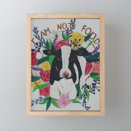 I am not food Framed Mini Art Print