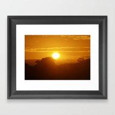 Sunset, 10th September, 2016 (2) Framed Art Print