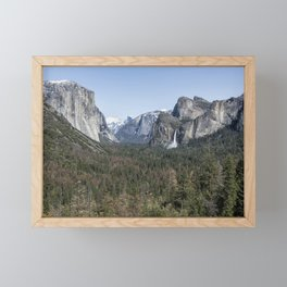 Tunnel View of Yosemite During Spring Framed Mini Art Print