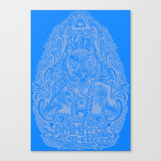 kill the tiger Canvas Print