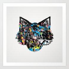 The Creative Cat (color varient) Art Print