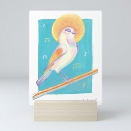 Golden Songbird Mini Art Print