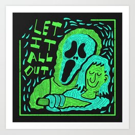 Scream 4 X Tears For Fears Art Print