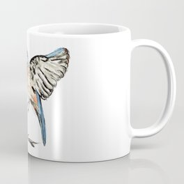 Bluebirds watercolour and ink Coffee Mug