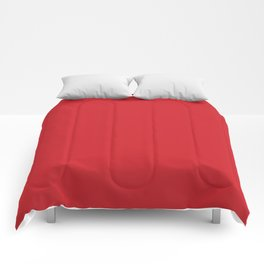 Fire Engine Red - solid color Comforters