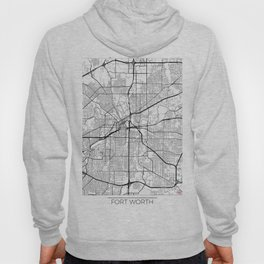 Fort Worth Map White Hoody