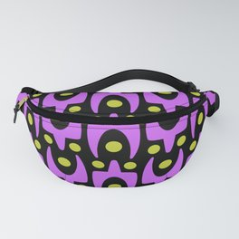Mid Century Modern Abstract Pattern 441 Black Pink and Green Fanny Pack