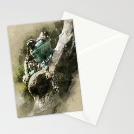 Blue tree frog Stationery Cards