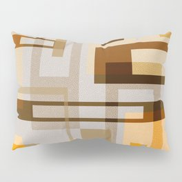 Mid Century Modern Blocks on Sand Pillow Sham