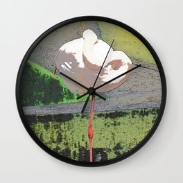 Impressive Animal - Sleeping Flamingo Wall Clock