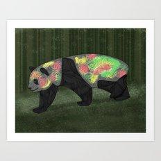 Panda Night Art Print