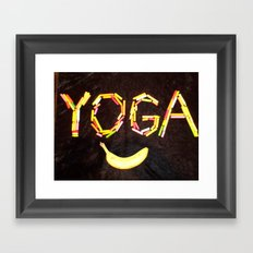 YOGA-B-SMILE Framed Art Print