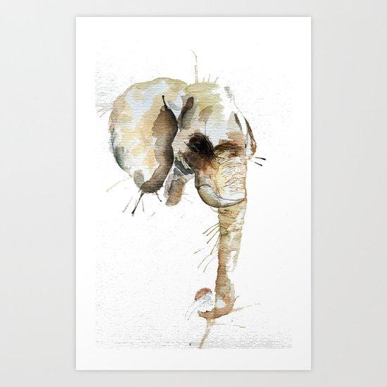 Elephant Head Art Print