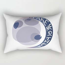 Take Me 2 The Moon Graphic Illustration Rectangular Pillow