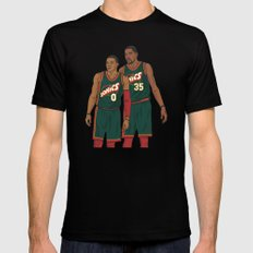Westbrook and Durant - Retro Jersey Black LARGE Mens Fitted Tee
