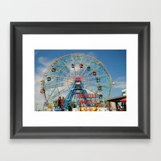 Wonder Wheel Framed Art Print
