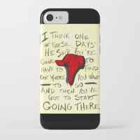 catcher in the rye iPhone & iPod Cases featuring The Catcher In The Rye - Holden's Red Hunting Cap by Juicebox Farley