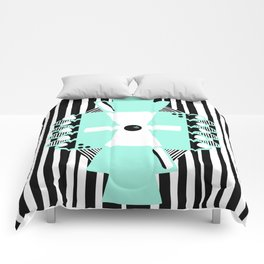 Black and White Squares and Stripes II Comforters
