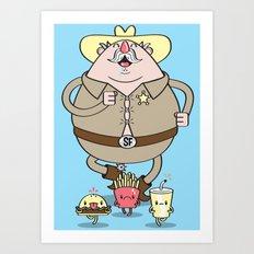 Sherif Fatman and Fast Food Art Print